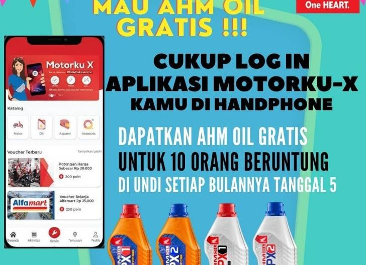 Photo of Mau AHM Oil Gratis Setiap Bulannya, Cukup Login di Aplikasi Motorku X