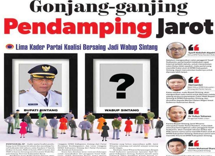 Photo of Gonjang-ganjing Pendamping Jarot, 5 Kader Partai Koalisi Bersaing Jadi Wabup Sintang