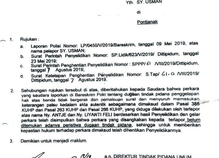 Photo of Ahli Waris Lahan Transmart Mesti Kembali Tuntut Hak di Satgas Mafia Tanah Bareskrim Polri