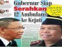 Gubernur Siap Serahkan 12 Ambulans ke Kejati, Dihibahkan Kembali Setelah Clear