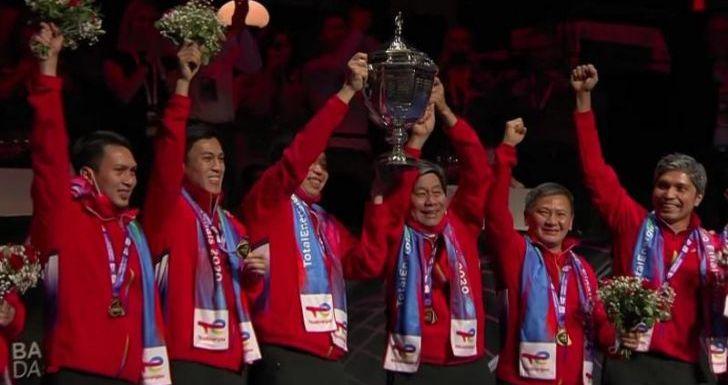Timnas Bulutangkis Indonesia Raih Juara Piala Thomas ke-14